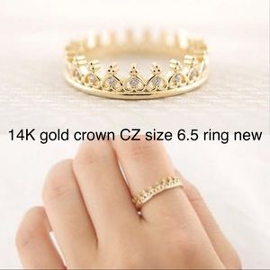 Jewelry - 5 for $25 14k gold crown ring size 6.5 new